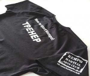 Шелкография, печать логотипов на футболках